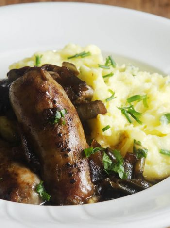 pressure king pro bangers and mash 3L recipe