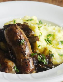 pressure king pro bangers and mash 5L recipe